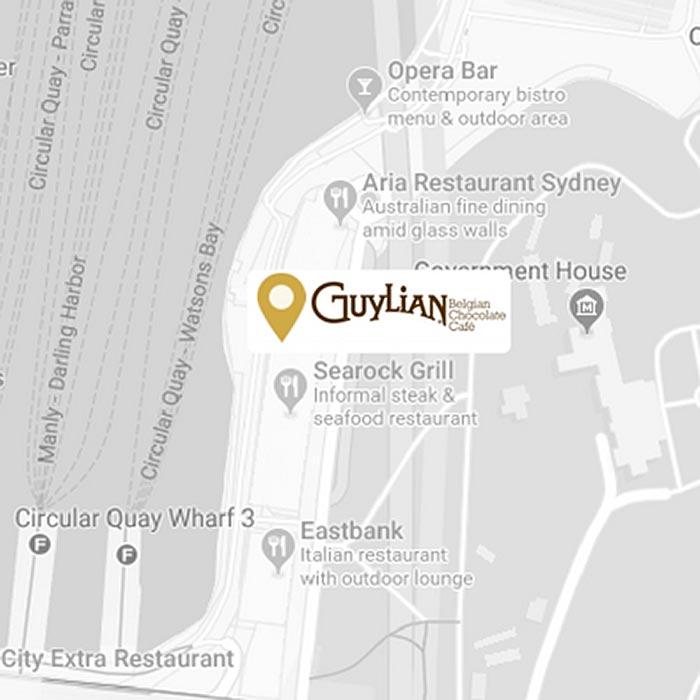 Guylian Circular Quay Map