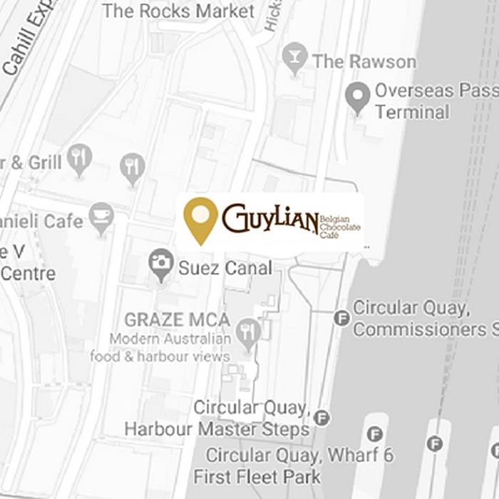 Guylian The Rocks Map